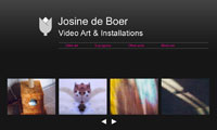 Web design - Josine de Boer, Media Artist