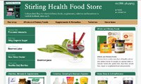 Web design - Stirling Health Food Store, Scotland
